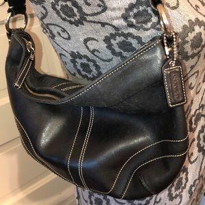 Coach Black Leather Shoulder Bag Good Condition